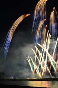 石巻川開き祭り花火大会の写真素材 [FYI00254232]