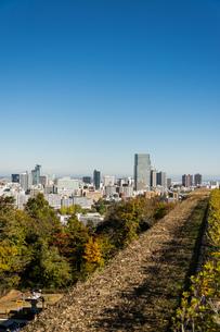 仙台城跡より都心を望む 秋の写真素材 [FYI00254284]