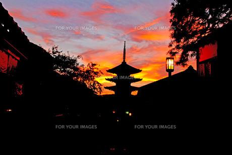 京都に夕焼けを見に行こうの素材 [FYI00254738]