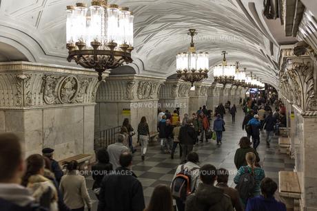モスクワの地下鉄の写真素材 [FYI00254778]