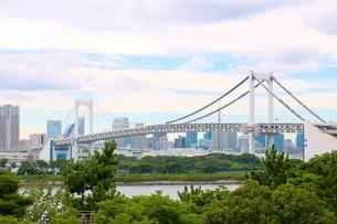 レインボーブリッジと東京タワーの写真素材 [FYI00254902]