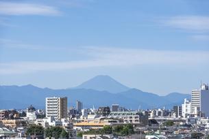 池袋方面から望む秋の富士山の写真素材 [FYI00254925]