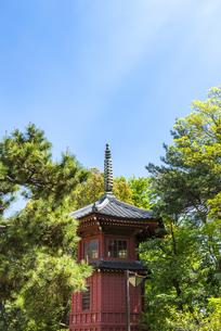 中野の哲学堂公園にある古建築物の六賢台の写真素材 [FYI00255138]