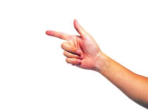 人差し指の写真素材 [FYI00255365]