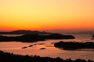 登茂山公園の夕景の写真素材 [FYI00256113]