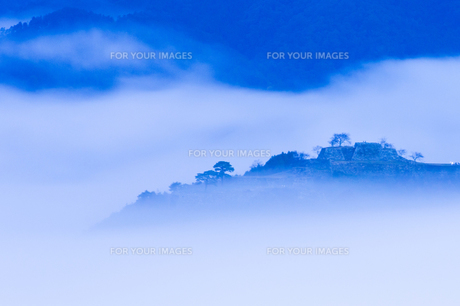 立雲峡からの竹田城跡の写真素材 [FYI00256236]