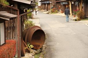 妻籠宿の町並みの写真素材 [FYI00256283]