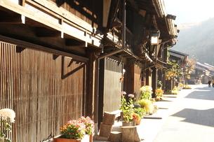 奈良井宿の町並みの写真素材 [FYI00256316]
