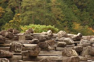 並べられた石の写真素材 [FYI00256319]