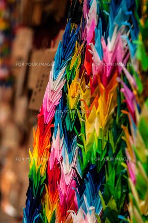 折り鶴の写真素材 [FYI00257174]