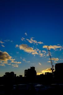 街の夜明けの写真素材 [FYI00258197]