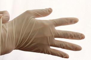 手袋をつけるの写真素材 [FYI00259316]