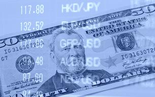 アメリカドル 為替レートのイメージの写真素材 [FYI00259371]