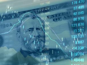 アメリカドル 為替レートのイメージの写真素材 [FYI00259383]