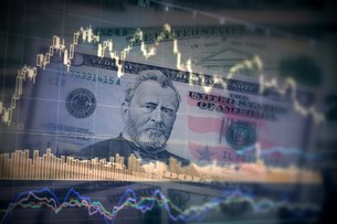 アメリカドル 為替レート 株価のイメージの写真素材 [FYI00259388]