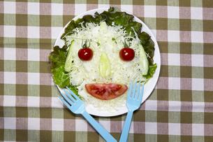 お母さんの野菜サラダの写真素材 [FYI00259886]