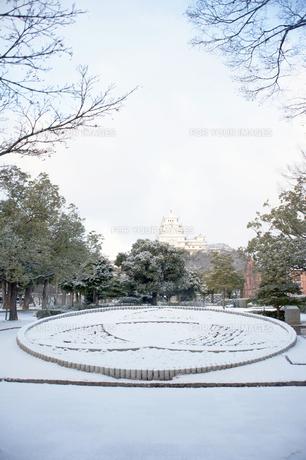 姫路城と姫路市市章の写真素材 [FYI00261090]