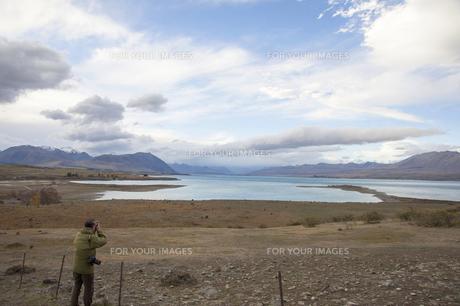 ニュージーランド 南島 ギャマック プカキ湖  の写真素材 [FYI00261093]