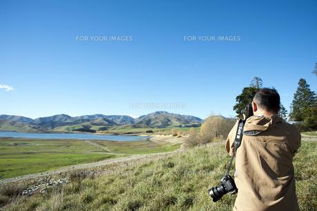ニュージーランド 南島 アシュウィック フラット オプハ湖   の写真素材 [FYI00261102]
