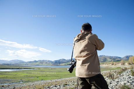 ニュージーランド 南島 アシュウィック フラット オプハ湖   の写真素材 [FYI00261108]
