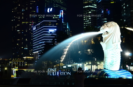 シンガポールの夜景の写真素材 [FYI00261132]