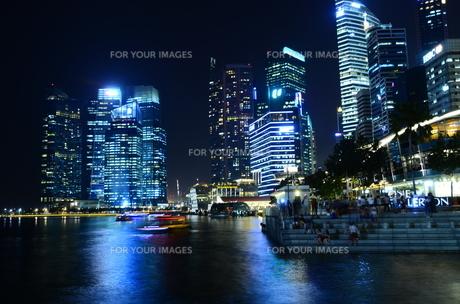 シンガポールの夜景の写真素材 [FYI00261145]