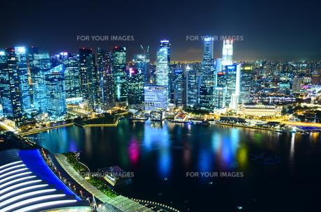シンガポールの夜景の写真素材 [FYI00261146]