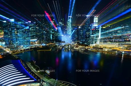 シンガポールの夜景の写真素材 [FYI00261150]