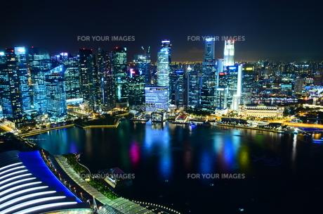 シンガポールの夜景の写真素材 [FYI00261153]