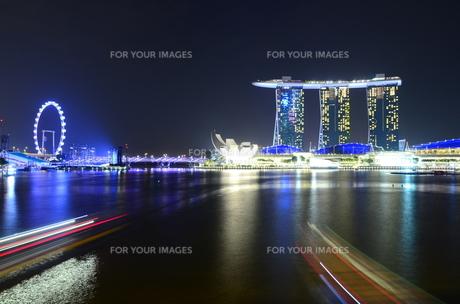シンガポールの夜景の写真素材 [FYI00261158]