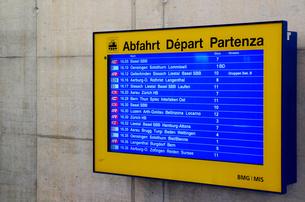 スイス国鉄の発車時刻表の素材 [FYI00261393]