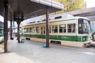 広島の市電駅の写真素材 [FYI00261406]