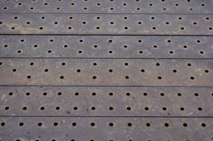 鉄板のバックグラウンドの写真素材 [FYI00261549]