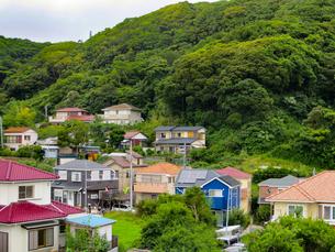山沿いの住宅の写真素材 [FYI00261939]