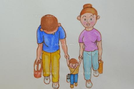 家族3人でお出かけの写真素材 [FYI00262224]