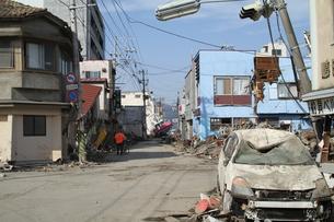 石巻 震災の記録の写真素材 [FYI00262990]