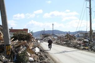 石巻 震災の記録の写真素材 [FYI00262996]