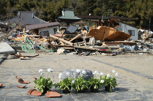 石巻 震災の記録の写真素材 [FYI00262998]