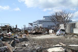 石巻 震災の記録の写真素材 [FYI00263000]