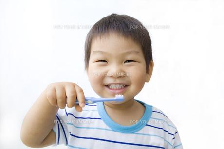 ニコニコ歯磨きの写真素材 [FYI00263282]