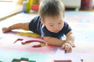 部屋で遊ぶ赤ちゃんの写真素材 [FYI00263454]