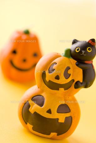 ハロウィンのかぼちゃ達の写真素材 [FYI00263510]