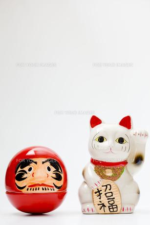 ダルマと招き猫の写真素材 [FYI00263771]