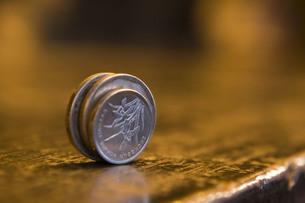 中国のコインの写真素材 [FYI00264069]