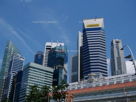 シンガポールのビル群の写真素材 [FYI00265461]