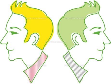 二人の男性の写真素材 [FYI00265552]