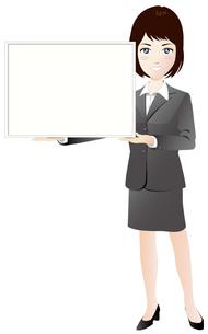 ホワイトボードを持つ女性の写真素材 [FYI00265753]