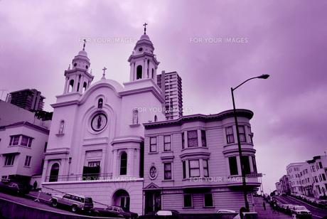 坂の教会の写真素材 [FYI00266117]