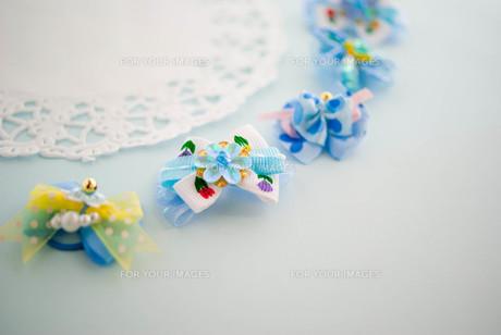 ブルーのリボンの写真素材 [FYI00267456]