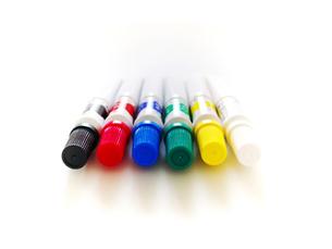 6色のアクリル絵の具の写真素材 [FYI00268869]